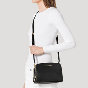 Michael Kors Reese Medium Leather Messenger Bag